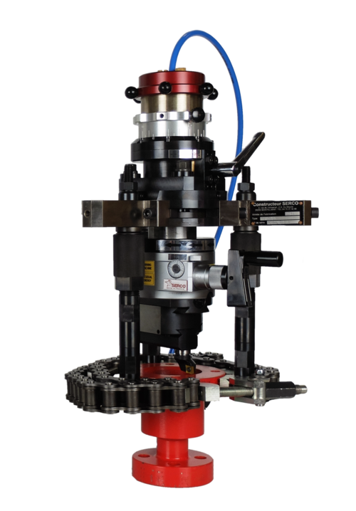 TU200 Flange & Valve Facing Equipment. Portable lathes for sealing surfaces, flanges and bores