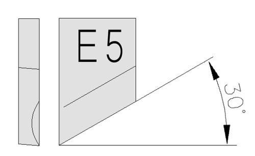 O-S18-E4-4-H-54 30° inverse beveling Tool-bit